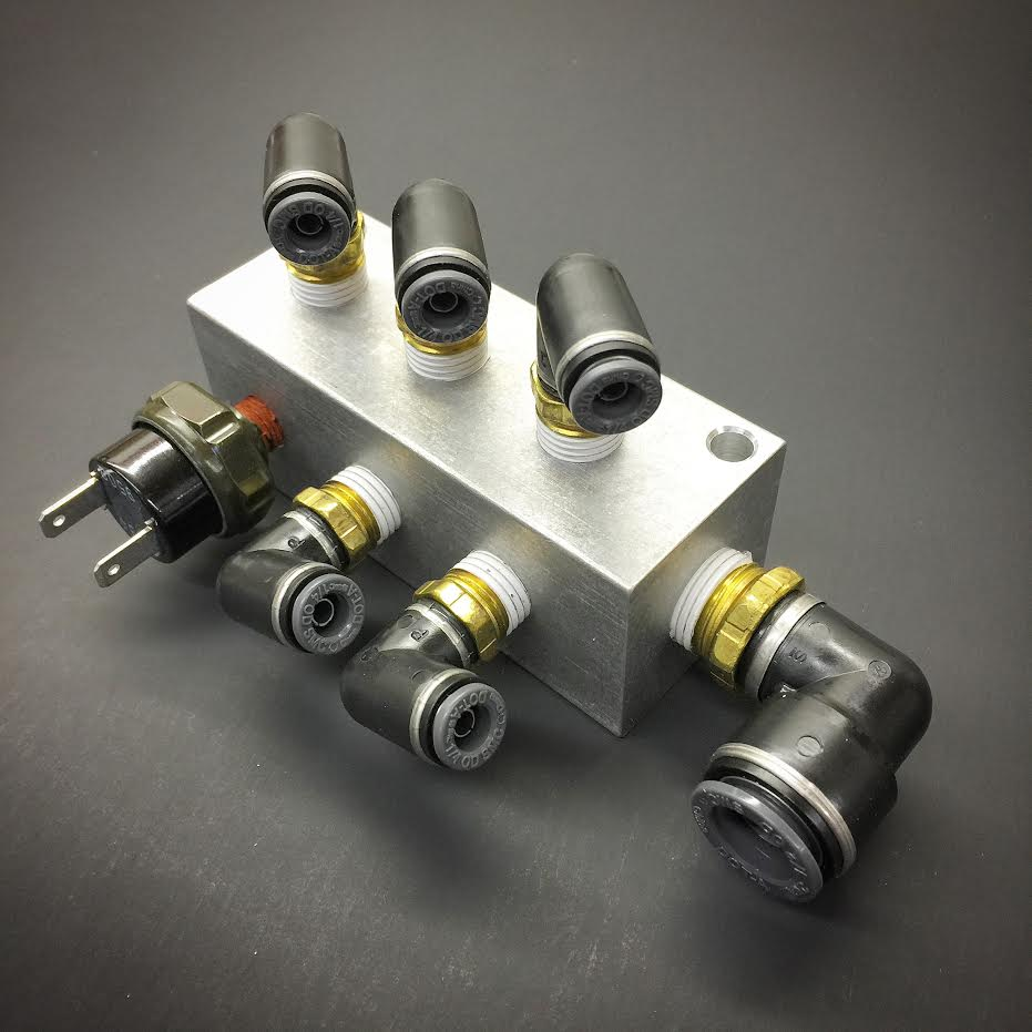 Billet 7075 Valve Psi Distribution Manifold With Fittings